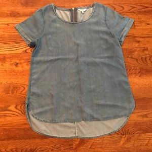 Crown and Ivy Chambray top